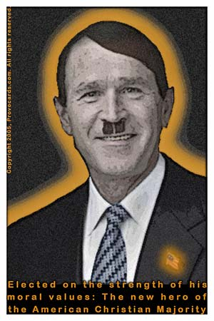george bush hitler